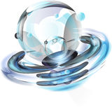 Abstract sphere. With blue ligh Stock Image