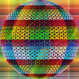 Abstract sphere. Abstract artistic sphere as contemporary wall decor Royalty Free Stock Images