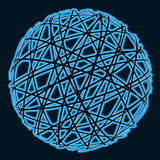 Abstract sphere. Abstract blue sphere on dark background Royalty Free Stock Photos