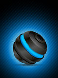 Abstract sphere. Abstract color background with dark 3d sphere Royalty Free Stock Photo