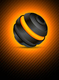 Abstract sphere. Abstract color background with dark 3d sphere Stock Photography