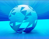 Abstract sphere. Abstract digital collage rendering of a spherical shape blue Stock Images