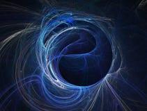 Abstract sphere. Digital abstract smoke Stock Image