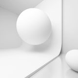 Abstract Sphere Background. 3d Rendering of Sphere Background. Abstract White Room Royalty Free Stock Image