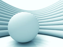 Abstract Sphere Ball Architecture Background. 3d Render Illustration Stock Image