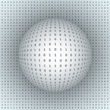 Abstract Sphere on Binary Background Stock Photos