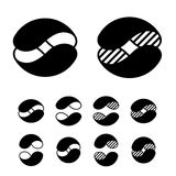 Abstract sphere black symbols Royalty Free Stock Images