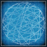 Abstract sphere on blue vintage background Royalty Free Stock Image