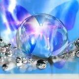Buttterfly transformational energy, crystle sphere and message of love and light photographed in South Africa