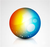 Abstract  sphere button Stock Photos