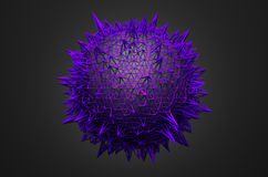 Abstract Sphere with Chaotic Structure Royalty Free Stock Photography