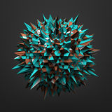 Abstract Sphere with Chaotic Structure Royalty Free Stock Photos