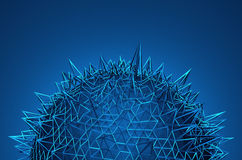 Abstract Sphere with Chaotic Structure Stock Images