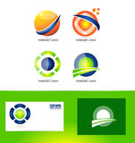 Abstract sphere circle logo. Vector company logo icon element template set abstract sphere 3d circle colors Stock Image