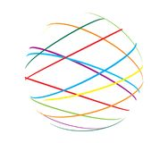 Abstract sphere from color lines Stock Photo