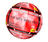 Abstract sphere from credit cards Stock Photography