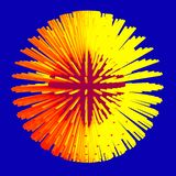 Abstract sphere 3d illustration. Matrix vector illustration