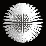 Abstract sphere 3d illustration. Matrix royalty free illustration