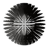 Abstract sphere 3d illustration. Matrix stock illustration