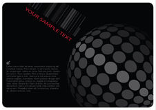 Abstract sphere design. With gray dots and red text Royalty Free Stock Images