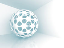 Abstract Sphere Design Architecture Background. 3d Render Illustration Royalty Free Stock Image