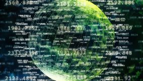 Abstract sphere from digital numbers. Stock Photo