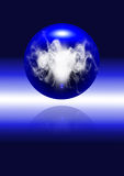 Abstract sphere with energy. On the black background Royalty Free Stock Photo