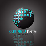 Abstract sphere logo. Abstract logo with a sphere design Royalty Free Stock Images
