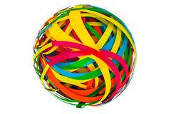 Abstract sphere made from Colorful Stripes. On a white background Royalty Free Stock Image