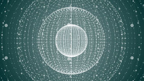 Abstract sphere of points and dots Royalty Free Stock Images