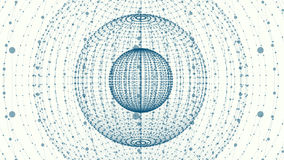 Abstract sphere of points and dots Royalty Free Stock Photography
