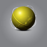 Abstract sphere science concept Stock Photos