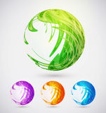Abstract sphere set for your design, vector illustration.  Royalty Free Stock Photography