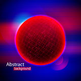Abstract Sphere Shape Of Glowing Circles And Particles. Splash Particles. Connection Structure. Abstract red Sphere Shape Of Glowing Circles And Particles Stock Photo