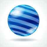 Abstract sphere with stripes Stock Photography