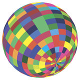 Abstract sphere. Vector illustration. royalty free illustration