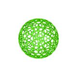 Abstract Sphere wireframe.  on white background. 3D rend. Ering illustration. Cartoon style Stock Photography