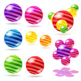 Abstract spheres. Royalty Free Stock Photos