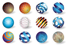 Abstract spheres. Vector illustration of colorful abstract 3D spheres Royalty Free Stock Image