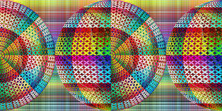Abstract spheres. Abstract artistic sphere as contemporary wall decor Stock Photo