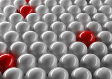 Abstract spheres. Abstract ordered white and red spheres background Stock Images