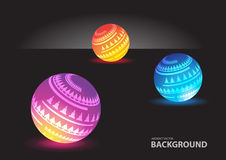 Abstract spheres background vector Royalty Free Stock Photo