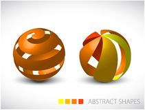 Abstract spheres made from colorful stripes Stock Photo
