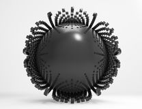Abstract spheres with reflective surface Stock Photography