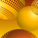 Abstract spheres vector  Royalty Free Stock Photography