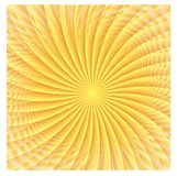 Abstract spherical luminous gold stars Stock Photography