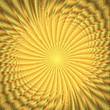 Abstract spherical luminous gold stars Stock Image