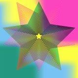 Abstract spherical luminous gold stars Stock Photo