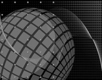 Abstract spherical transparent graphic design on black background Royalty Free Stock Image