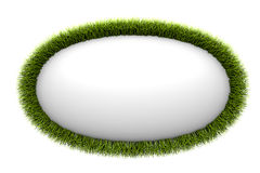 Abstract spheroid framed with green grass Royalty Free Stock Images